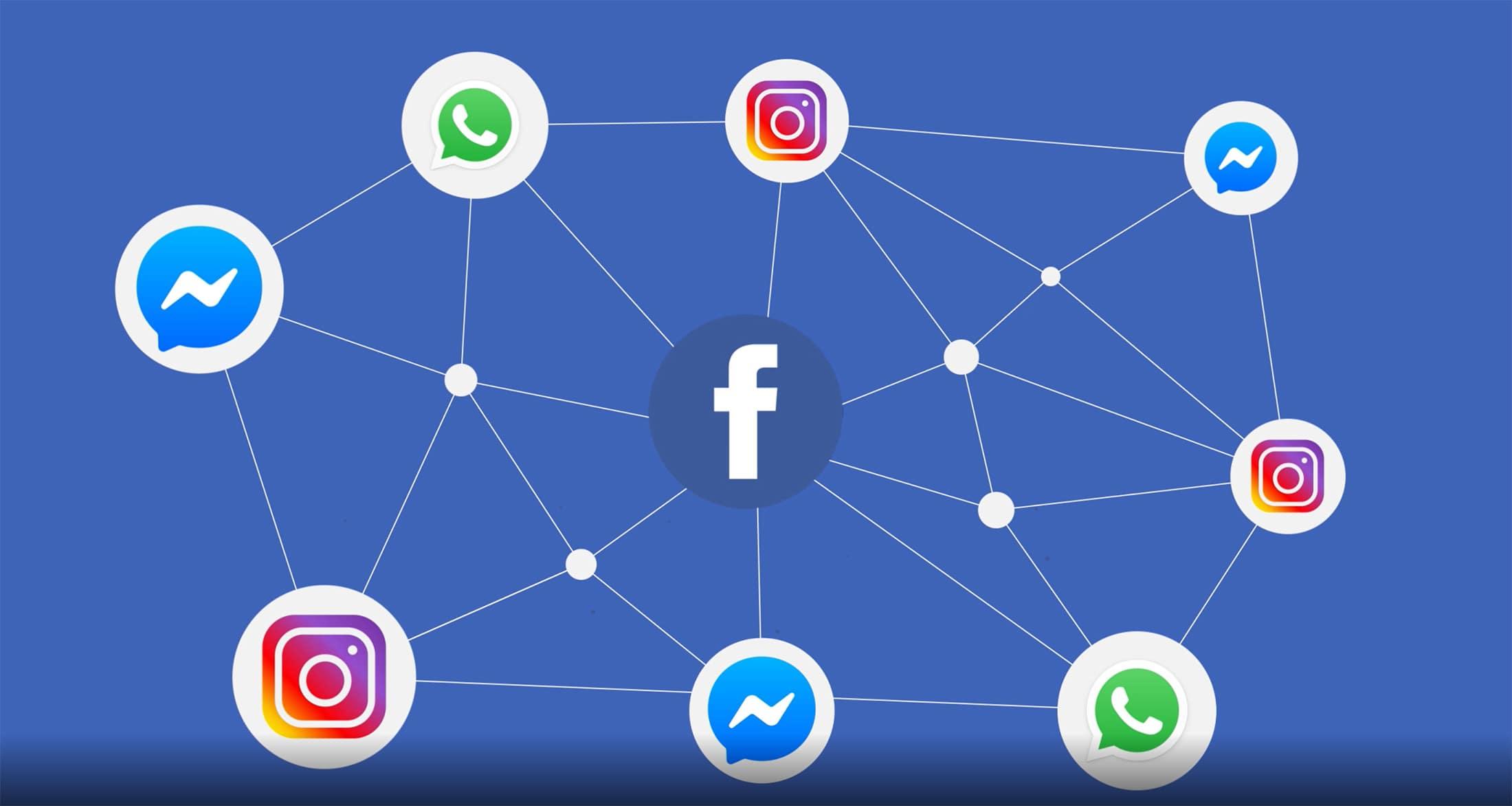 Fusion Messageries Whatsapp Messenger Msn Instagram Direct Facebook